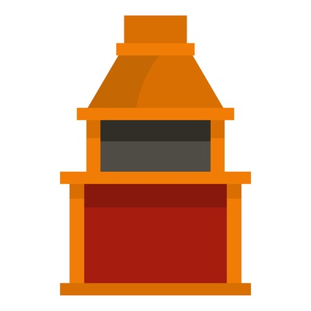 Barbecue gas grill icon isolated