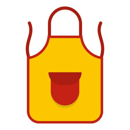 Yellow apron with red pocket icon isolated Illustration