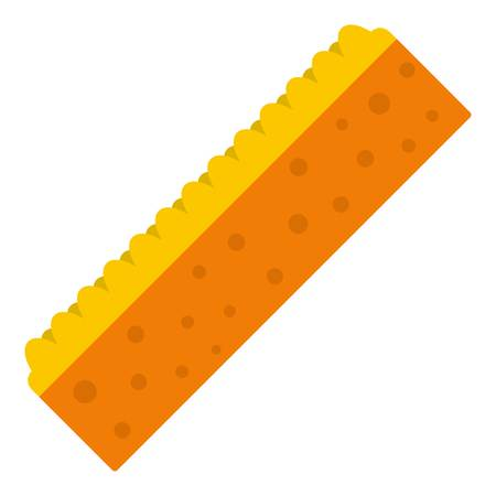 absorb: Orange sponge for cleaning icon isolated