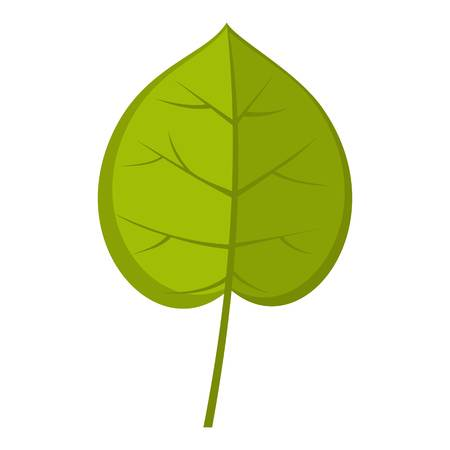 Green linden leaf icon isolated