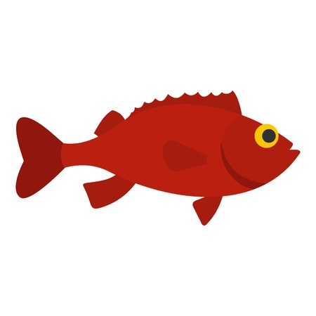 Red betta fish icon isolated
