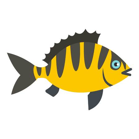 fish form: Perch fish icon isolated