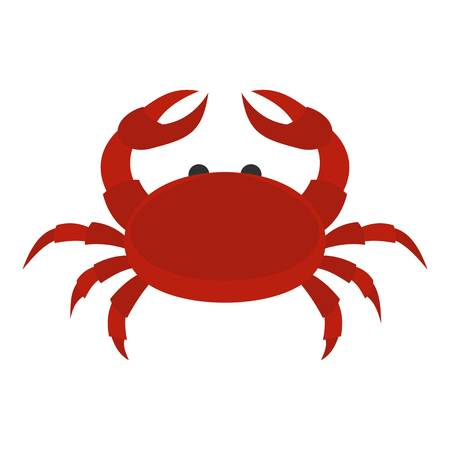 crab legs: Red crab icon isolated
