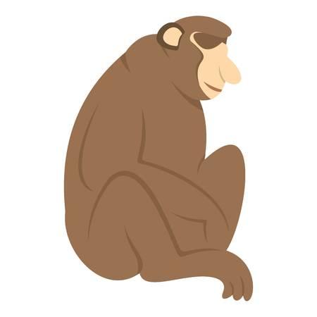 genus: Orangutan monkey icon isolated
