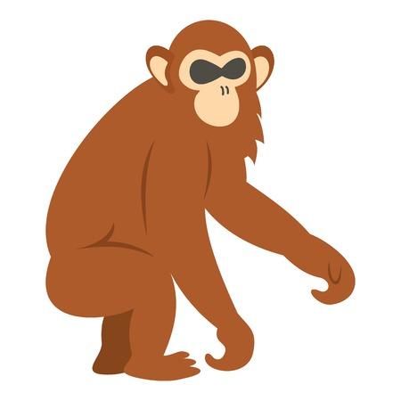 dusky: Dusky leaf monkey icon isolated