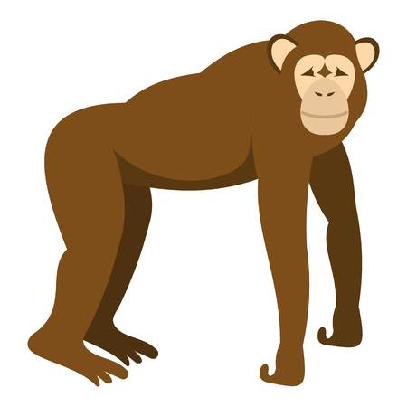 genus: brown monkey standing on its four legs icon