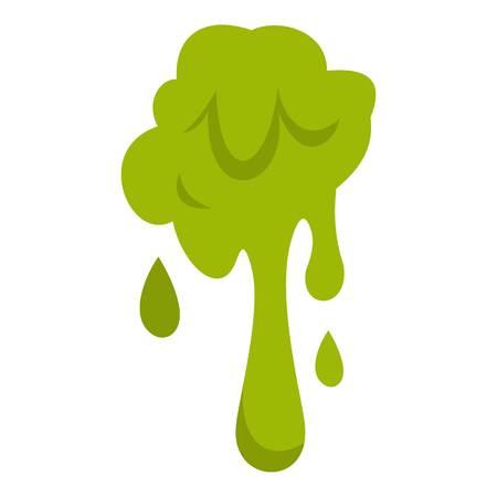 Icono de plano verde baba aislado en ilustración de vector de fondo blanco Ilustración de vector
