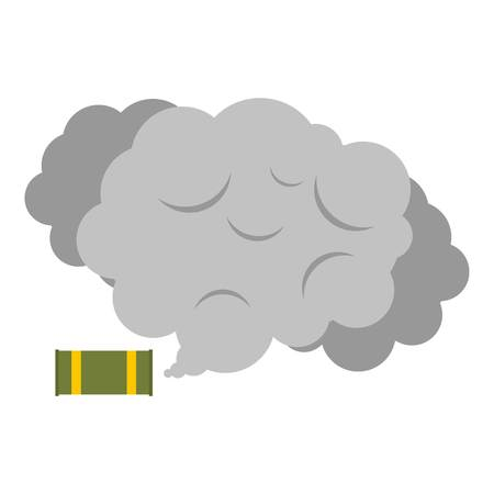 Tear gas canister icon flat isolated on white background vector illustration