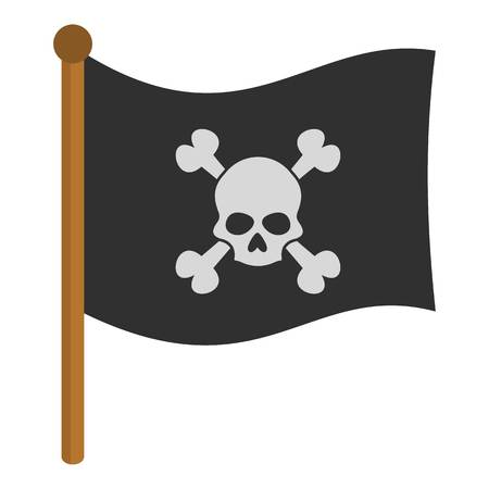 flag: Pirate flag icon isolated