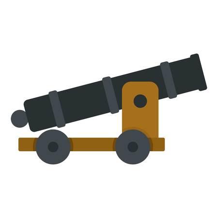 wheel guard: Cannon icon isolated Illustration