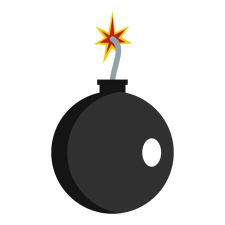 Cannonball pictogram geïsoleerd Stock Illustratie