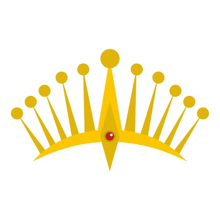 Big crown icon isolated