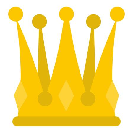 kingly: Kingly crown icon isolated