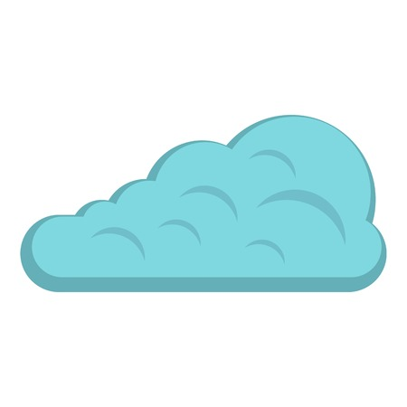 Cumulus cloud icon isolated