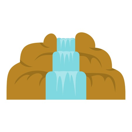 Waterfall icon isolated