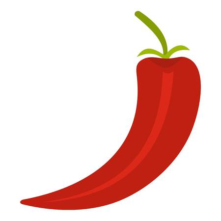 capsaicin: Red hot chili pepper icon isolated Illustration