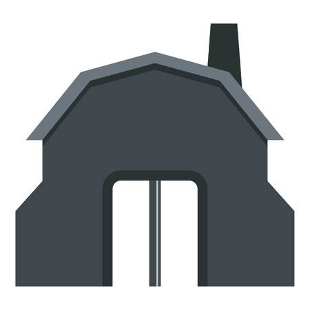 forge: Blacksmith workshop building icon isolated