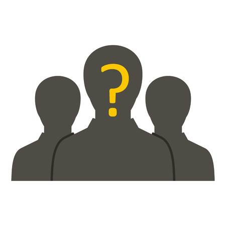 anonymity: Group of business people icon isolated Illustration