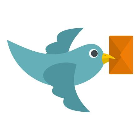 Dove carrying envelope icon isolated Illustration