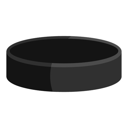 puck: Ice hockey puck icon isolated