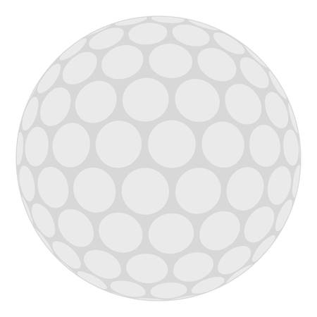 dimple: Ball for playing golf icon isolated