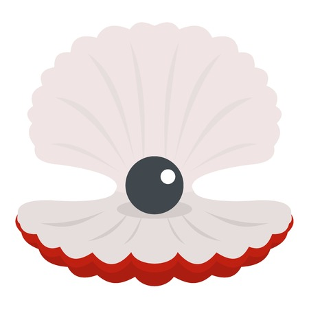Pearl in a shell icon isolated Vettoriali