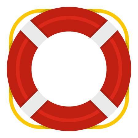 Lifebuoy icon isolated