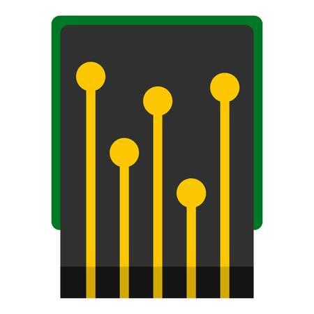 Computer processor icon isolated