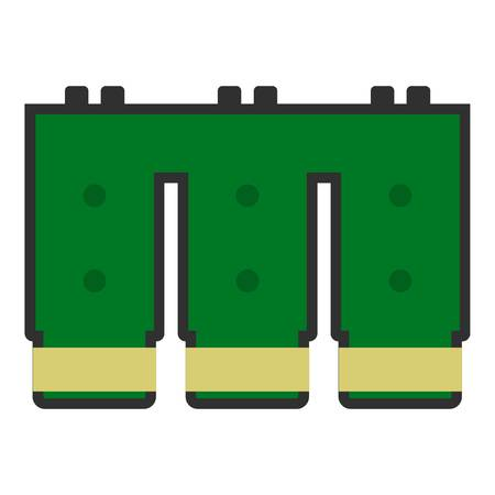 Electronic circuit board icon isolated