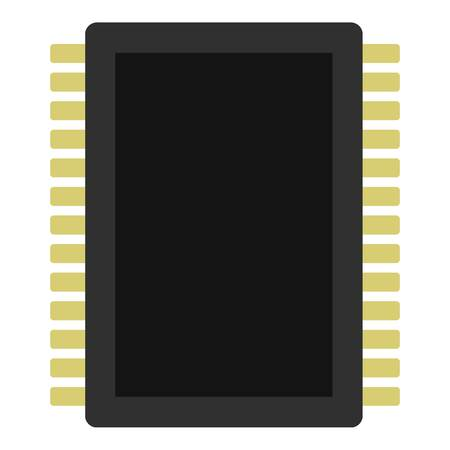 Computer electronic circuit board icon isolated