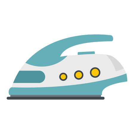 Modern electric iron icon isolated