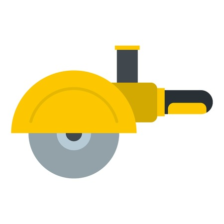 High speed cut off machine icon flat isolated on white background vector illustration