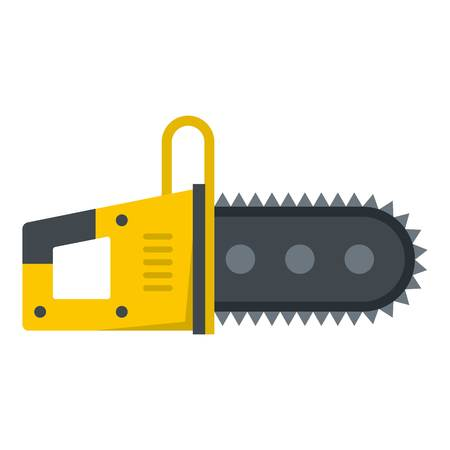 Chainsaw icon flat isolated on white background vector illustration Illustration