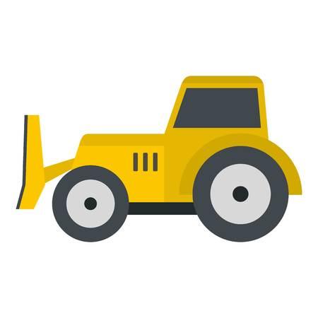 skid: Skid steer loader icon isolated