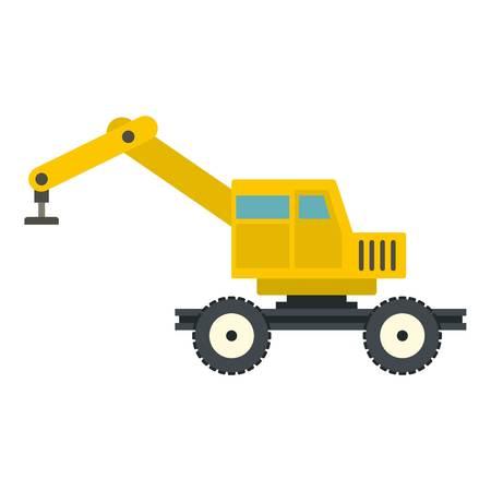 Crane truck icon isolated