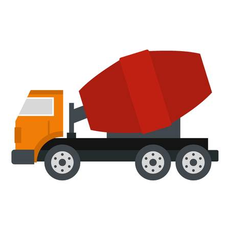 hard drive: Truck concrete mixer icon isolated
