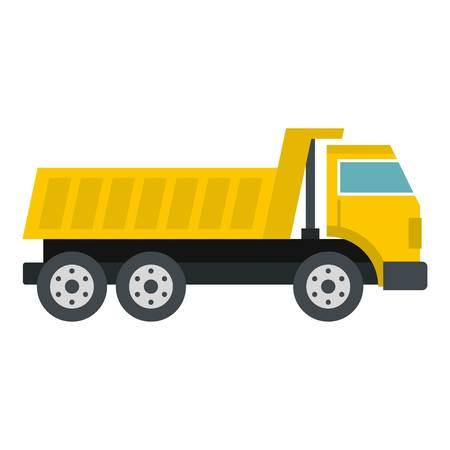 Dumper truck icon isolated Illustration