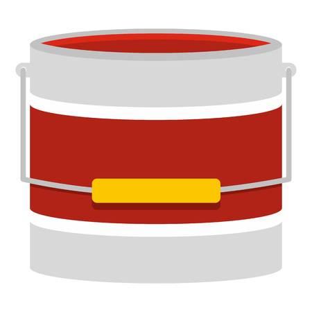 paintbucket: Red paint bucket icon isolated
