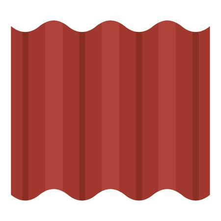 Steel colored goffered plate for roof icon flat isolated on white background vector illustration Illusztráció