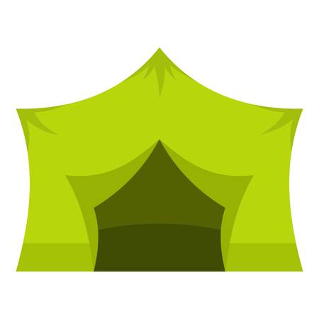 Camping equipment icon flat isolated on white background vector illustration