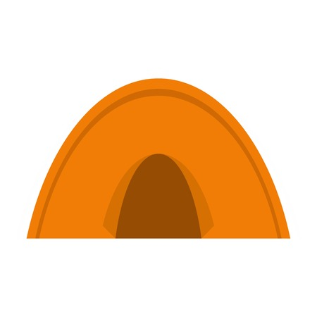 Tent icon flat isolated on white background vector illustration