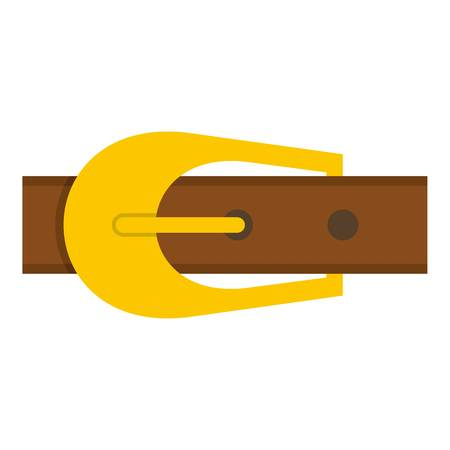 rivets: Brown belt icon flat isolated on white background vector illustration