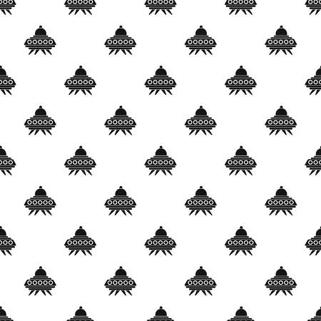 invader: Alien spaceship pattern seamless in simple style vector illustration