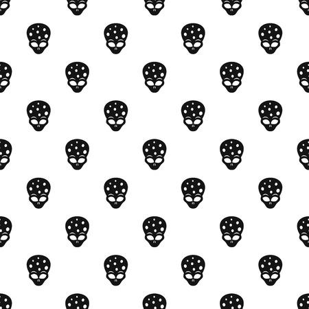 ufology: Extraterrestrial alien head pattern vector Illustration