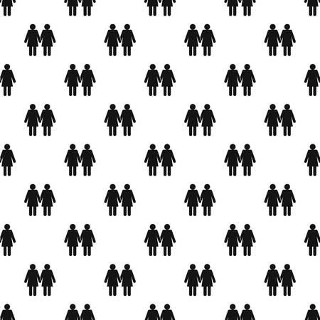 heterosexual: Two girls lesbians pattern vector