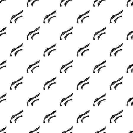 virus cell: Spiral bacteria pattern seamless in simple style vector illustration Illustration