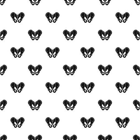 groin: Pelvis pattern vector