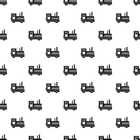 iron: Locomotive pattern seamless in simple style vector illustration Illustration