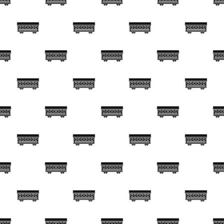 railcar: Passenger train car pattern seamless in simple style vector illustration