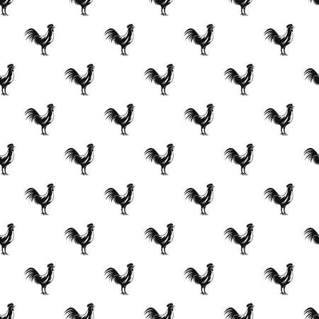 Gallic rooster pattern seamless in simple style vector illustration Illustration